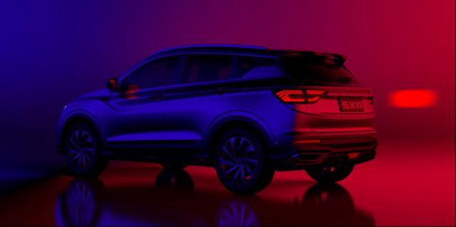 潮流与力量的惊艳碰撞 吉利BMA架构首款SUV SX11官图首曝